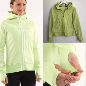 Lululemon Lime Green Scuba Sweatshirt, Size Small